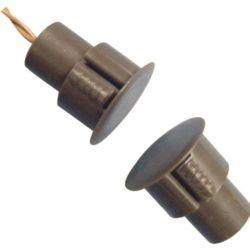 """3/4"""" Įleidžiamas magnetinis kontaktas šarvuotoms durims (rudas)"""