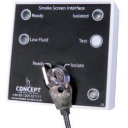 Concept Smoke Screen dūmų generatoriaus būsenos sąsaja SSI