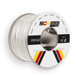 8 Core Tinned Copper Screened Cable White 100m SCHNUR