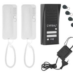 Audio telefonspynės komplektas CYFRAL COSMO R-2 juodas
